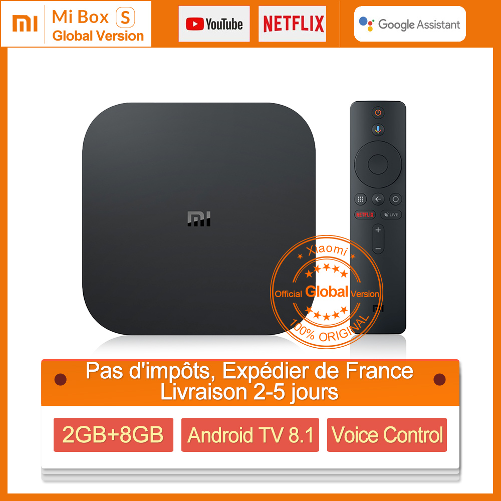Global Version Xiaomi Mi BOX S Smart 4K Ultra HD 2G 8G Android 8 1 WIFI