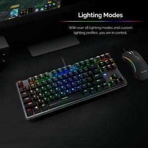 Image 2 - Clavier mécanique TECWARE Phantom 87, LED RGB, interrupteur bleu Outemu, commutateurs supplémentaires fournis, Excellent pour les Gamers