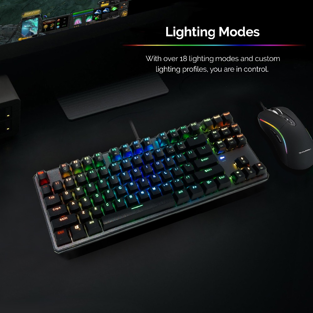 Image 2 - TECWARE Phantom 87 Mechanical Keyboard, RGB LED, Outemu Blue Switch,Extra Switches Provided, Excellent for Gamers-in Keyboards from Computer & Office
