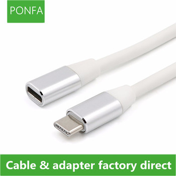 1M USB Type C Extension Cable USB 3.1 Data Video Cable USB-C Male to Female Extending Wire Extender Cord Connector