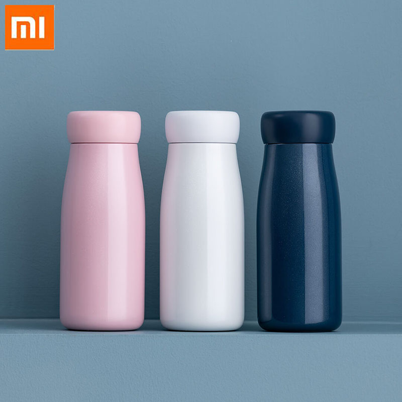 Original Xiaomi Thermos cup Long term insulation stainless steel Storage temperature 360 degree No water leakage portable cup