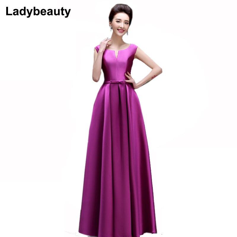 Ladybeauty Mother Of The Bride Dresses 2018 Elegant Evening Dresses V-opening Lace-up Long Formal Party Dress Vestido De Festa