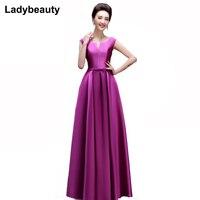 Ladybeauty Mother Of the Bride Dresses 2018 Elegant Evening Dresses V opening Lace up Long Formal Party Dress vestido de festa