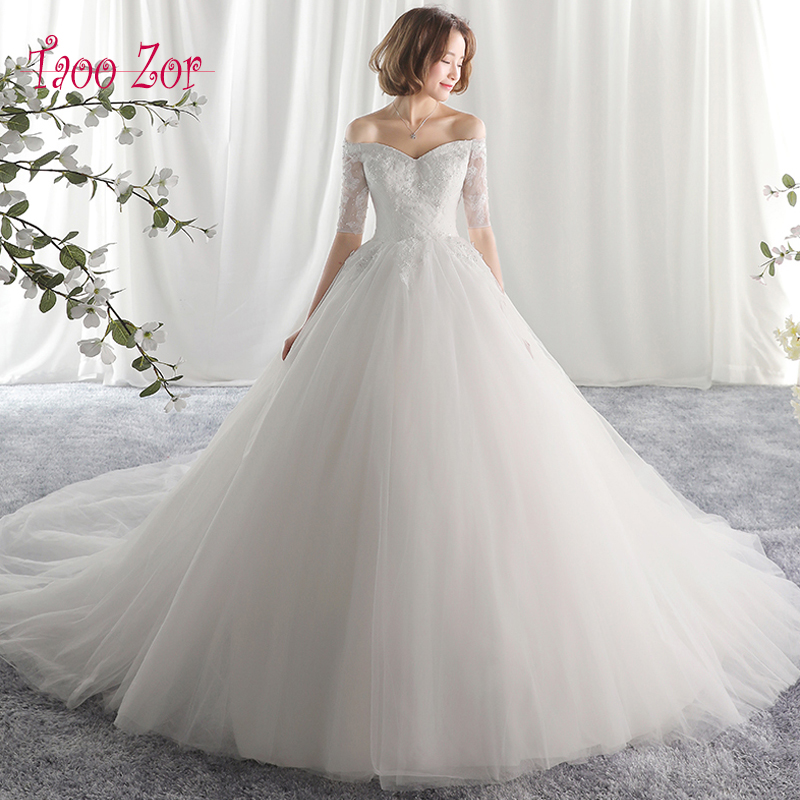 Taoo Zor Luxe Lace Appliques A Line Wedding Dresses 2017
