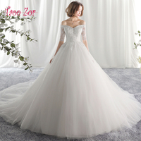 Taoo Zor Luxe Lace Appliques A Line Wedding Dresses 2017 Sexy Pearls Vestidos De Noiva Vintage