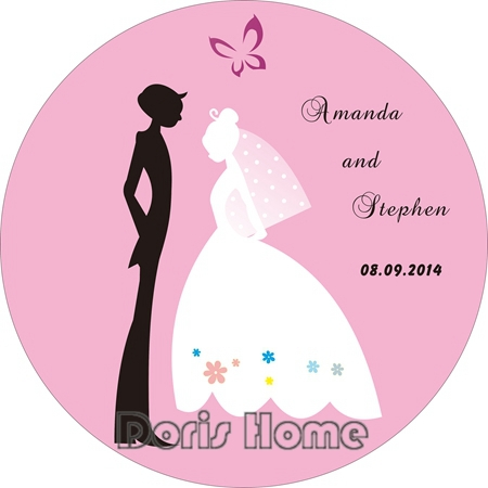 Free Shipping Personalized Wedding Favor Sticker For Wedding Party