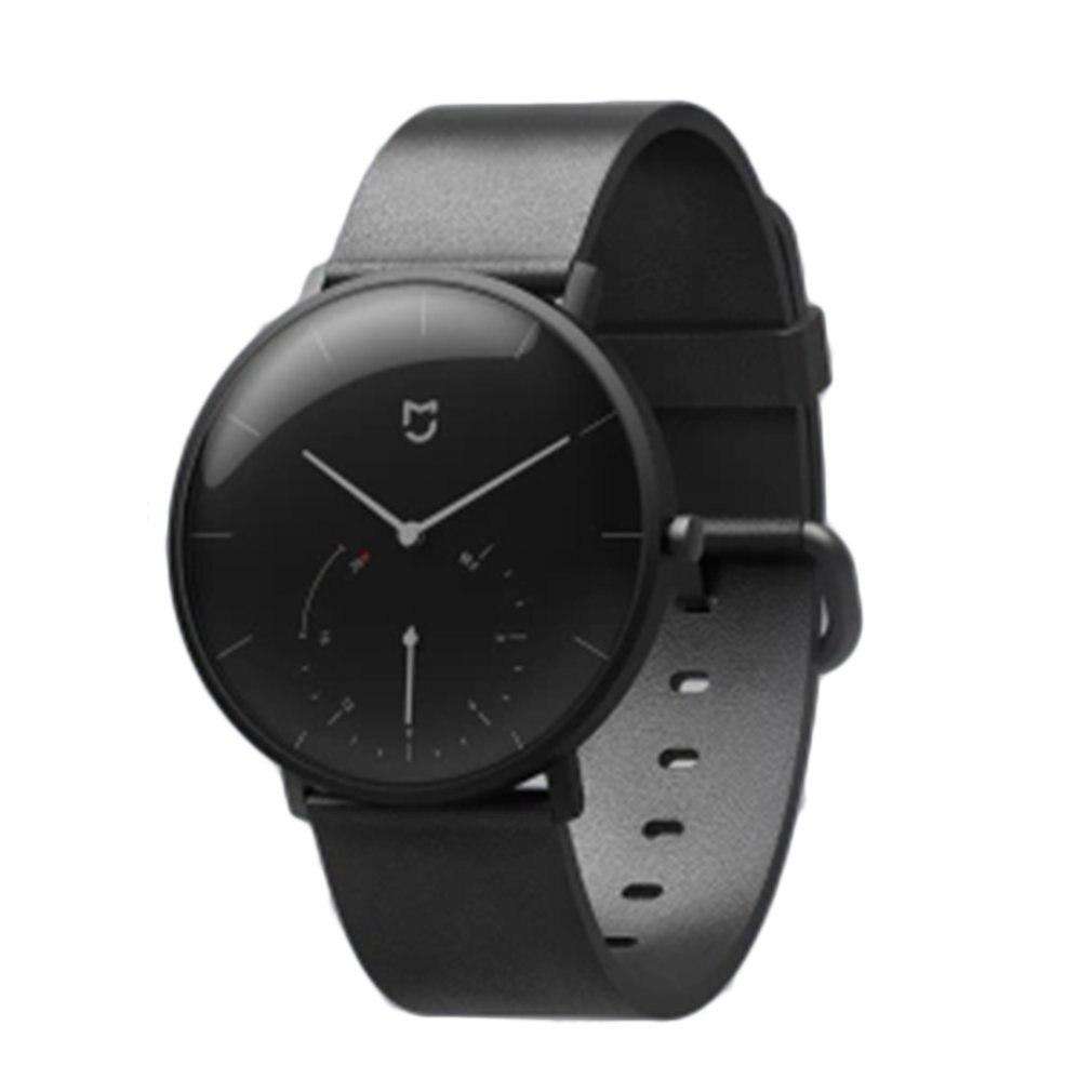 Montre intelligente à QUARTZ XIAOMI Mi Mijia étanche avec Double cadran alarme Sport capteur podomètre temps bracelet en cuir
