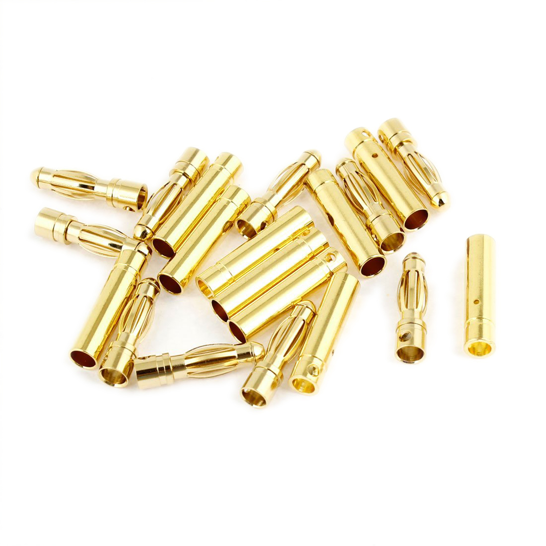 4mm Inside Dia Male Female Banana Plug Bullet Connector Replacement 10 Pairs areyourshop hot sale 50 pcs musical audio speaker cable wire 4mm gold plated banana plug connector