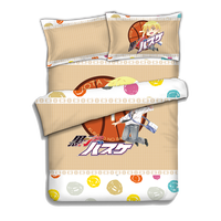 Japanese Anime Kuroko No Basketball Bed sheets Bedding Sheet Bedding Sets Bedcover Quilt Cover Pillow Case 4PCS