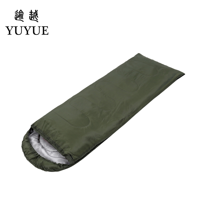 Outdoor 3 season adult cotton sleeping bag cotton for camping tent with envelope type customized sleeping bag cheap sleeping bag 1