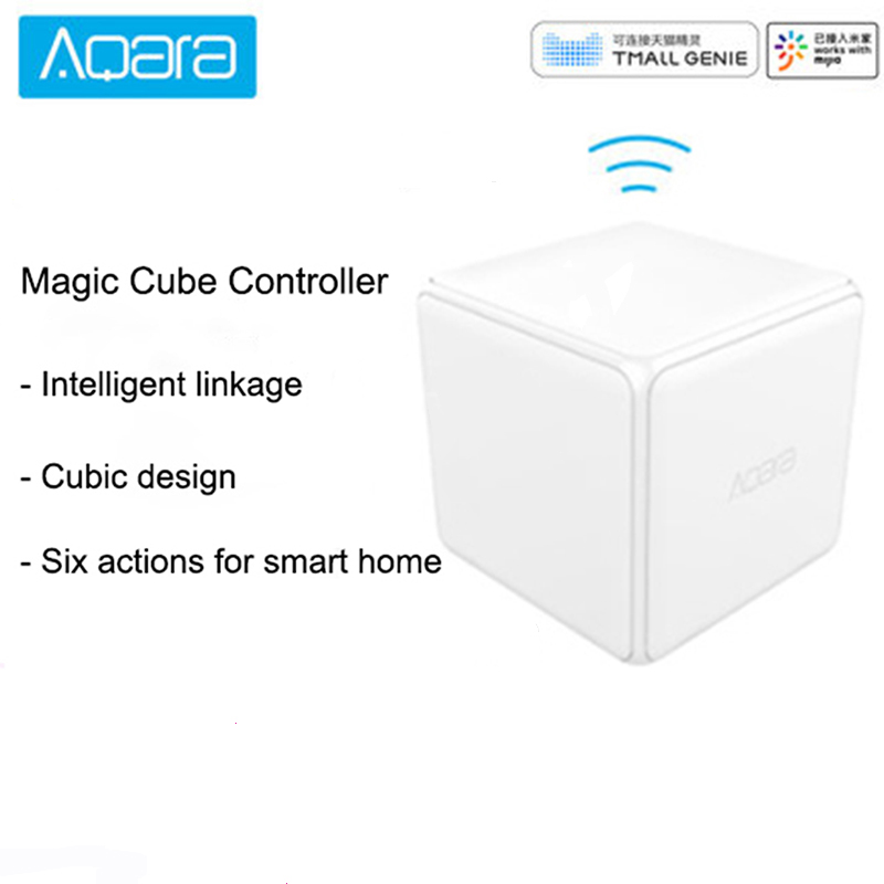 Xiao Mi Mi Aqara Magic Cube Controller Zigbee Version Checked Six Actions Smart Home Device Work With Mi Jia Home App