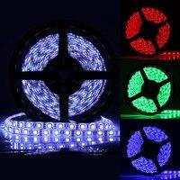 Светодиодные ленты 5050 DC12V гибкий свет 300 светодиоды Водонепроницаемый светодиодные полосы зеленый оранжевый красные, синие RGB Цвет для ТВ За...
