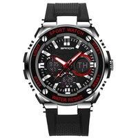SANDA LED Digital Watch Men 2017 Top Brand Luxury Famous Wristwatch Male Clock Wrist Watch Sport