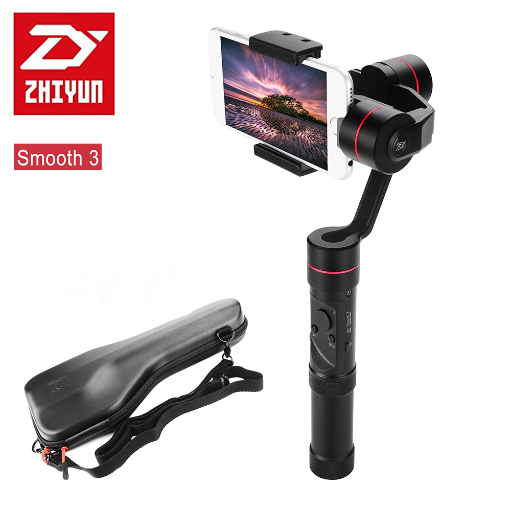 Newest Zhiyun Smooth - III Smooth 3 Handheld Gimbal Stabilizer for Smartphones Gopro Action cameras Mount Support 260g yuneec q500 typhoon quadcopter handheld cgo steadygrip gimbal black
