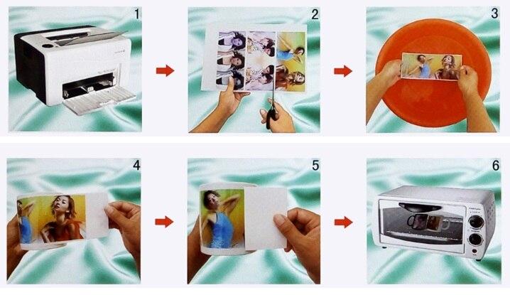 DIY waterslide transfer aufkleber aufkleber A4 größe (60 teile/los) laser klar waterslide aufkleber transfer druckpapier-in Malpapier aus Büro- und Schulmaterial bei  Gruppe 2