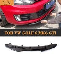 炭素繊維自動車フロントバンパーディフューザーリップ用vwゴルフ6 mk6 gtiバンパー2010 2011 2012 2013車スタイリン