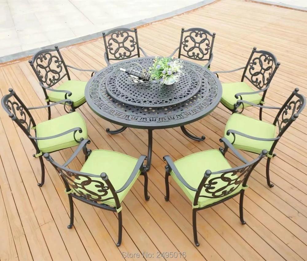 set of 9 piece cast aluminum patio furniture garden furniture outdoor furniture transport by sea