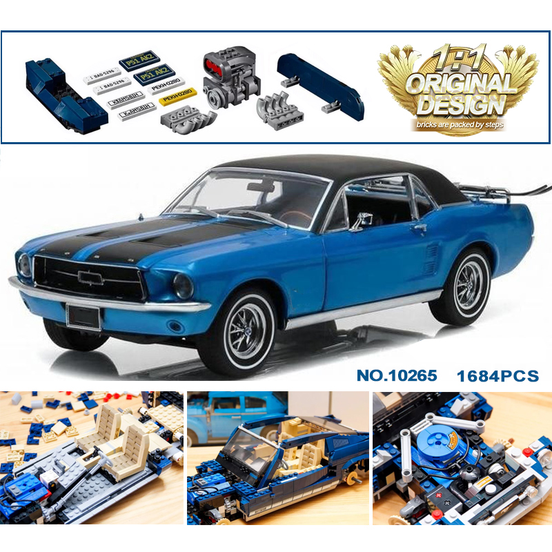 NEW 1684PCS 21047 Creator Speed Car Building Blocks Bricks Compatible techinic 10265 Toys for Children
