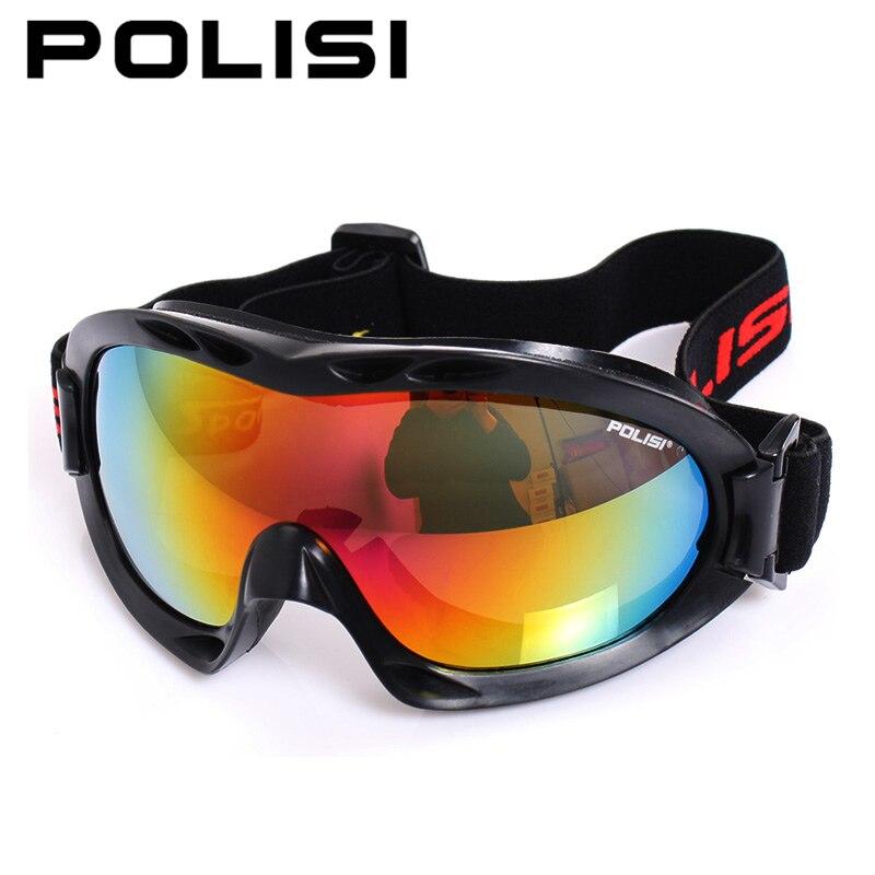 Polisi óculos de esqui no inverno snowboard à prova de vento homens  mulheres óculos uv400 anti-fog de esqui óculos de motocross da motocicleta  skate 30d9d54747