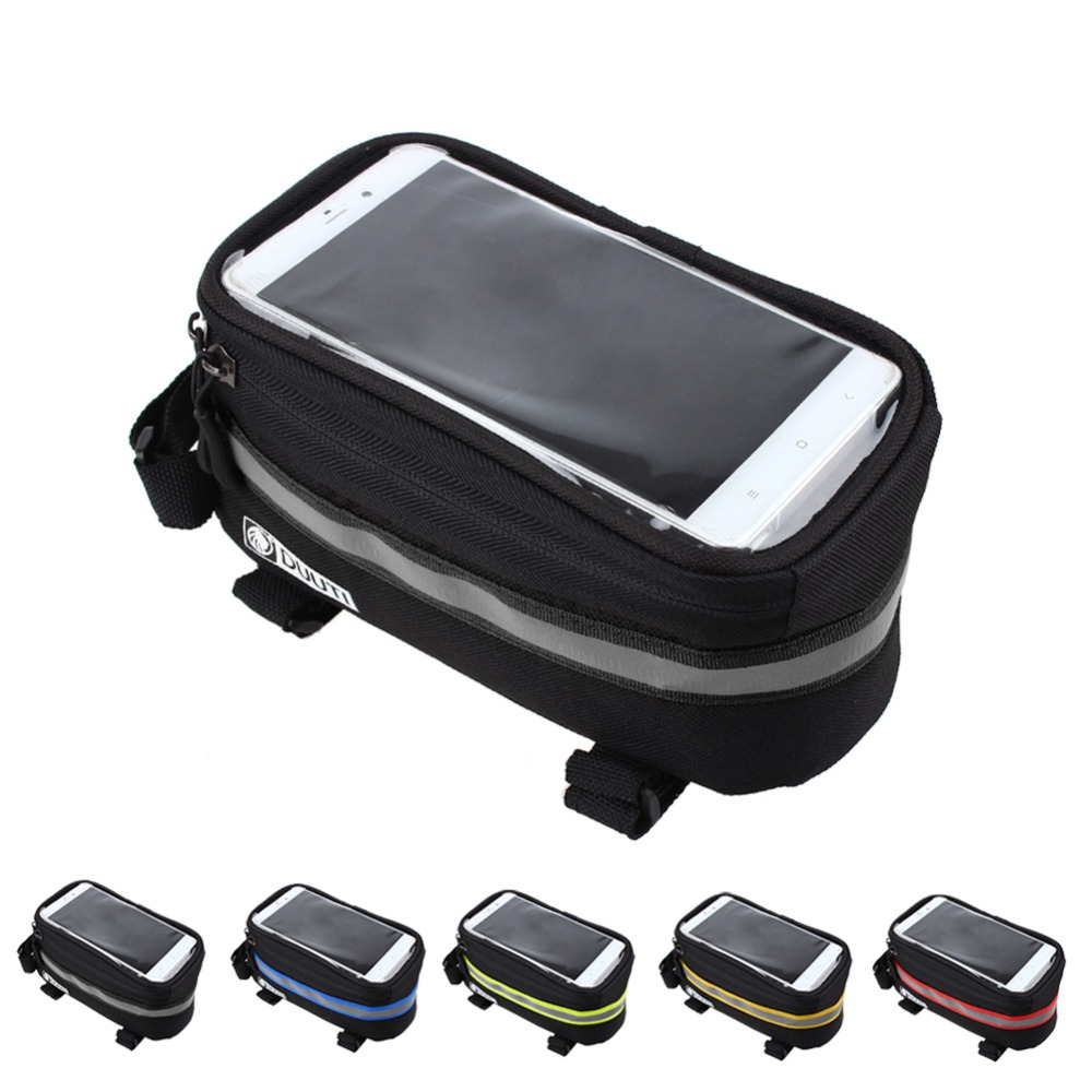 "3,5 ""-5,7"" Cykling Cykelposer Panniers Ramme Front Tube Bag Mobiltelefon MTB Bike Touch Screen Taske Til Iphone 7 For Samsung"
