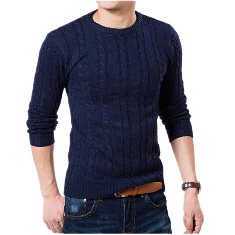 Для мужчин свитер Высокое качество пуловер Для мужчин модные круглый вырез горловины зимний свитер Для мужчин S Марка Slim Fit модный вязаный свитер пальто