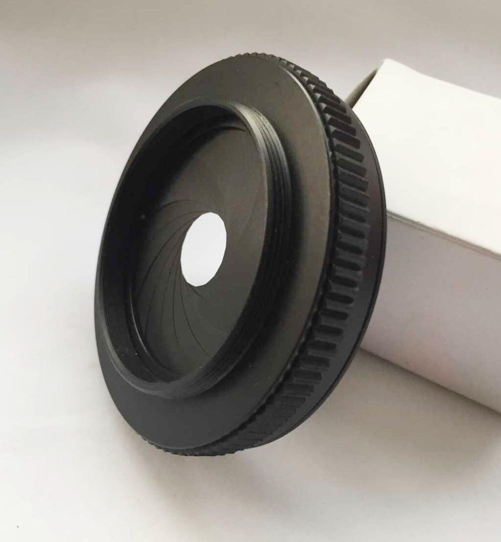 купить IRIS DIAPHRAGM aperture with male M42X1 / female M52x1 thread ring adapter онлайн