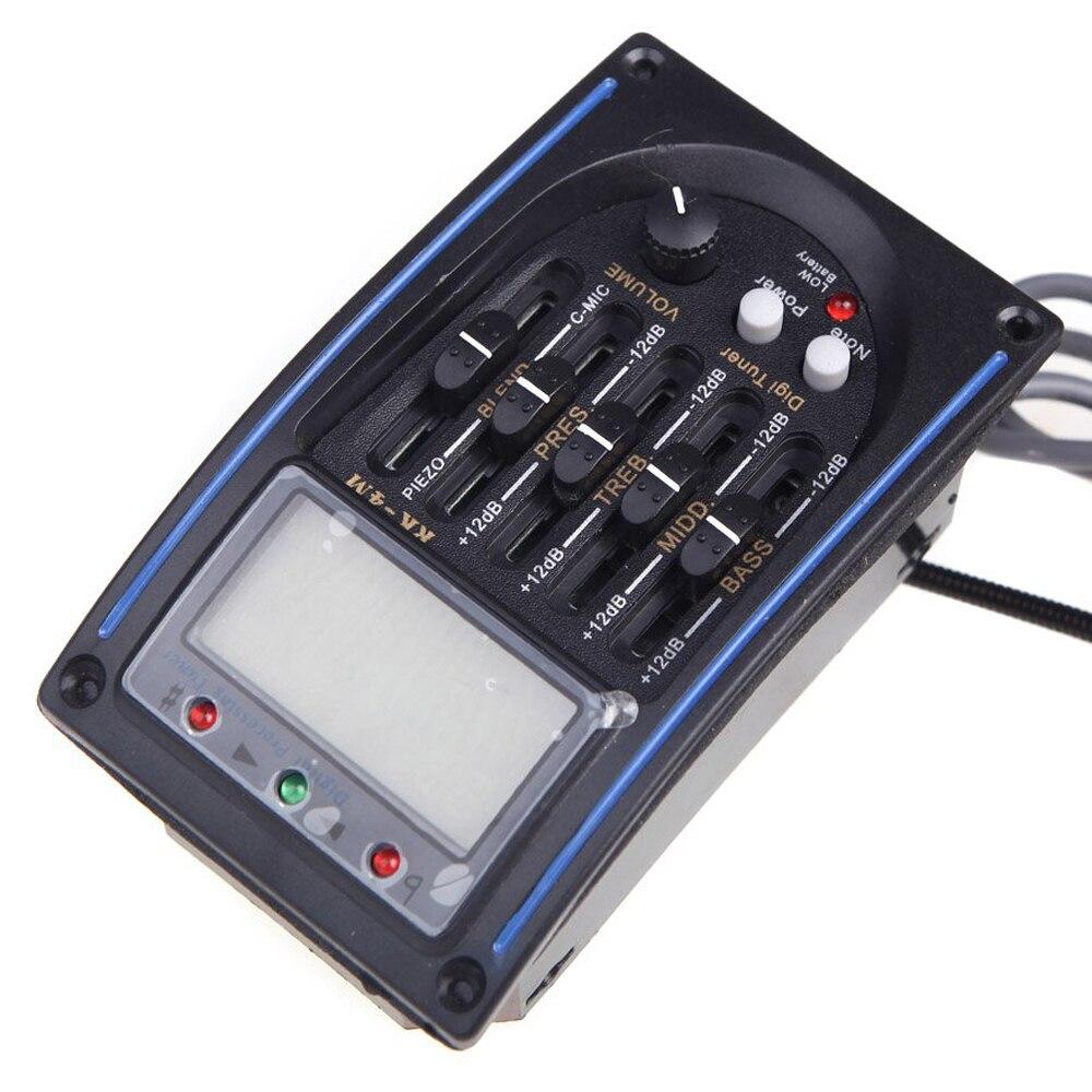 SYDS EQLC-5-Band EQ Equalizzatore Sistema di Chitarra Acustica Preamplificazione Piezo Pickup LCD Schermo Sintonizzatore