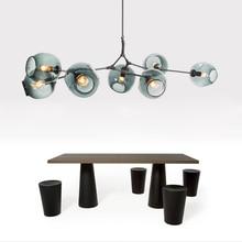Modern glass chandelier Nordic living room dining room kitchen lamp designer chandelier industrial Chandelier