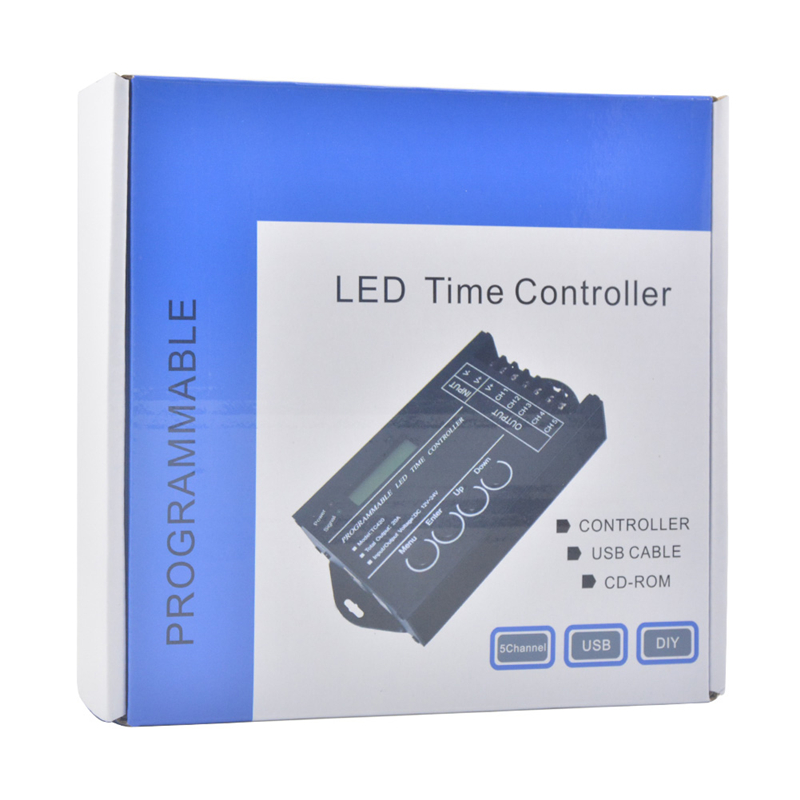 Time programable RGB LED Controller TC420 DC12V 24V 5Channel Total Output 20A Common Anode Programmable