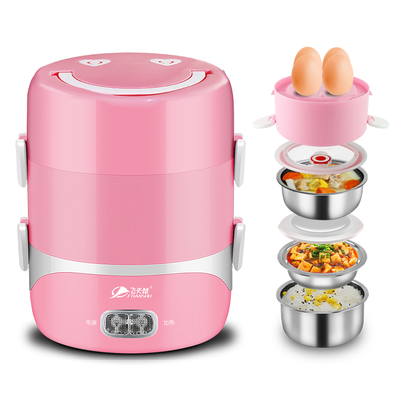 Electric Lunchbox Three Layers Hot Rice Cooker Plug In Rice Cooker Heating Work with Rice Sealed Fresh 1.2L 1-2 People rice cooker parts paul heating plate 900w thick aluminum heating plate