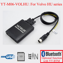 Yatour interfaces de audio mp3 del coche para volvo c70 s40 s60 s80 v40 v70 xc70 hu radio