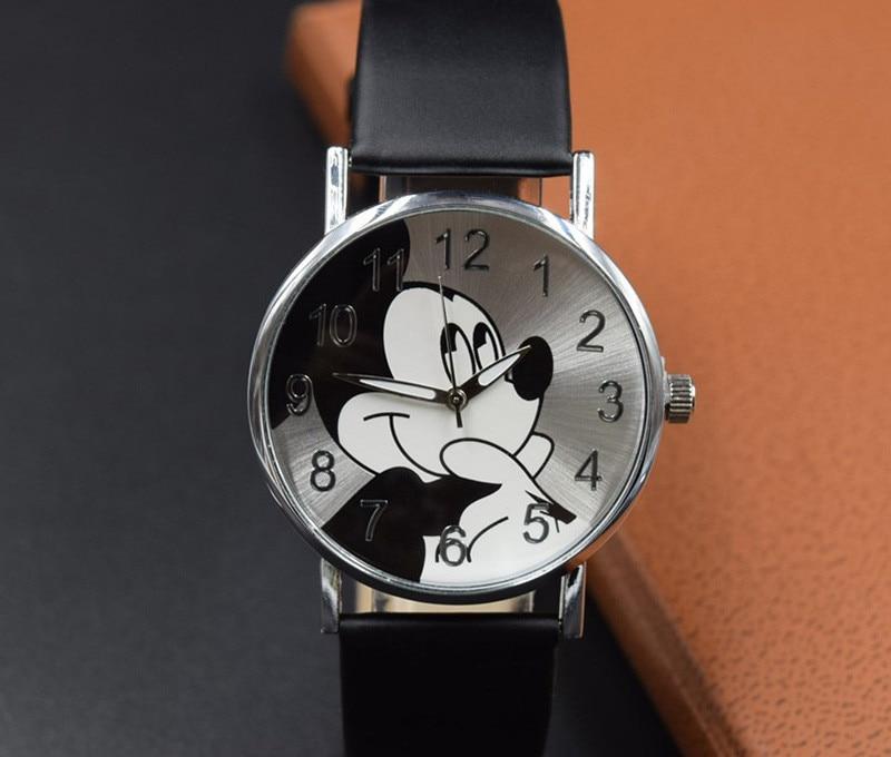 2019 New Cute Cartoon Quartz Wristwatch Children Leather Watch Lovely W