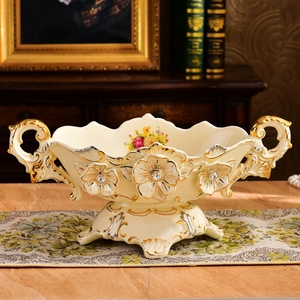 European luxury high-grade ceramic fruit compote suite living room home decor decoration plate modern coffee table
