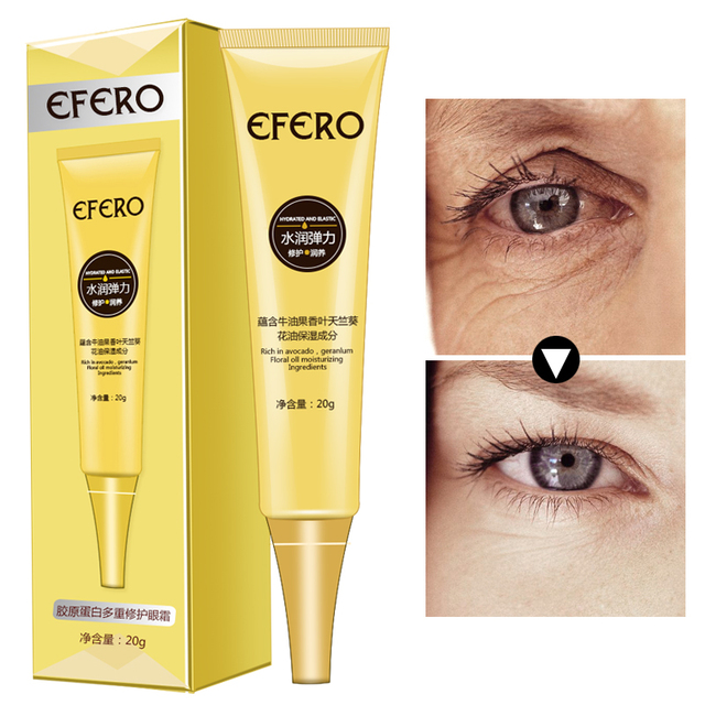 EFERO Moisturizing Eye Cream Collagen Deep Repair Dark Circle Eye Essence Cream Anti Aging Wrinkle Cream for Eye Care Nourishing