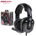 Somic G909 7.1 Pro Jogo FPS Gaming Fones De Ouvido Com Cancelamento de Ruído Fone de Ouvido com a Função de Vibração Com Rotatable MIC para computador