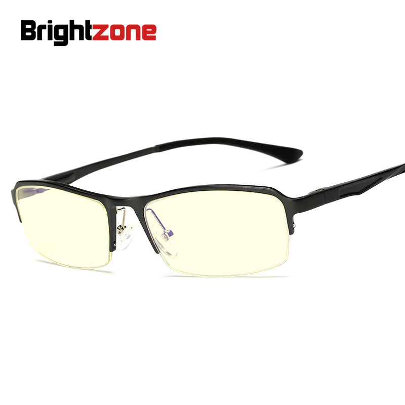 Alta calidad unisex ultra-ligero anti-azul anti-ultravioleta anti-cansancio media ordenador lectura gafas vierkant ojo gafas hombres Marcos