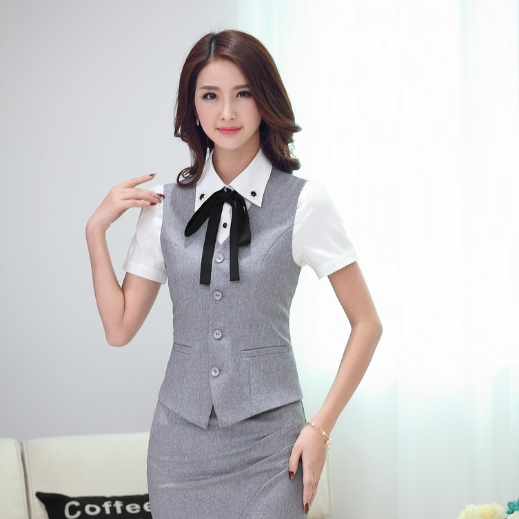 Aliexpress.com : Buy Summer Formal Ladies Gray Vest Women ...