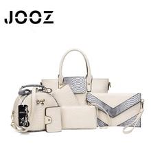 Jooz Brand Luxury Fashion 6Pcs Alligator Women Leather bags Set Women Shoulder Crossbody Bags Handbag Purse Clutch bag