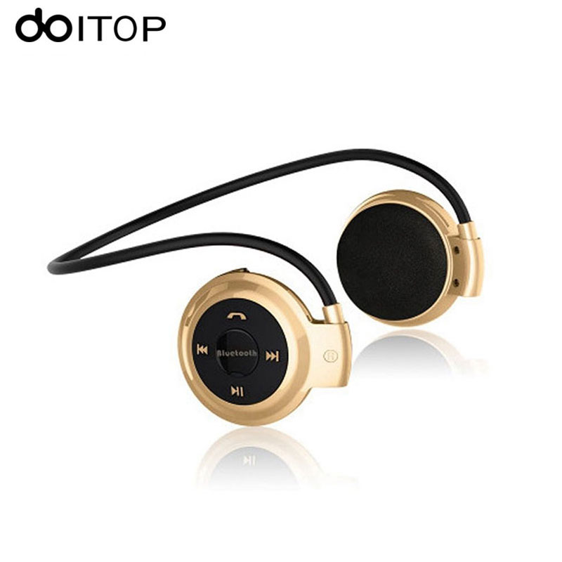 DOITOP <font><b>Mini</b></font> <font><b>503</b></font> <font><b>Bluetooth</b></font> Headphone Wireless Stereo Headset Sport Music Bass Earphone Earpiece Support TF Card FM Radio