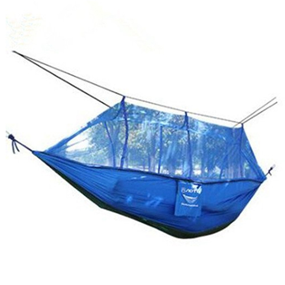 TFBC-AOTU 260*140cm Double Hammock with Mosquito Mesh Garden Parachute Cloth Permeability Camping Leisure Hammocks цена