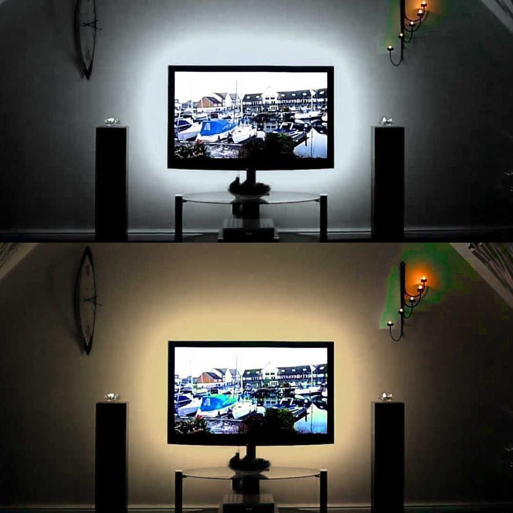 5 в Светодиодная лента USB 5 в RGB ТВ ПОДСВЕТКА 2835 50 см 1 2 3 4 5 м освещение с ИК-управлением для рабочего Стола Настольная лампа лента Диодная лента