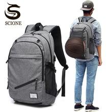 72604fe337 Sac à dos pour ordinateur portable homme toile USB sac à dos sacs d'école  pour adolescent sac à dos sac à dos multifonction voya.