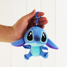 10cm Anime Lilo Stitch Plush Toy Stitch Stuffed Keychain Pendant With Hook Gift for Children