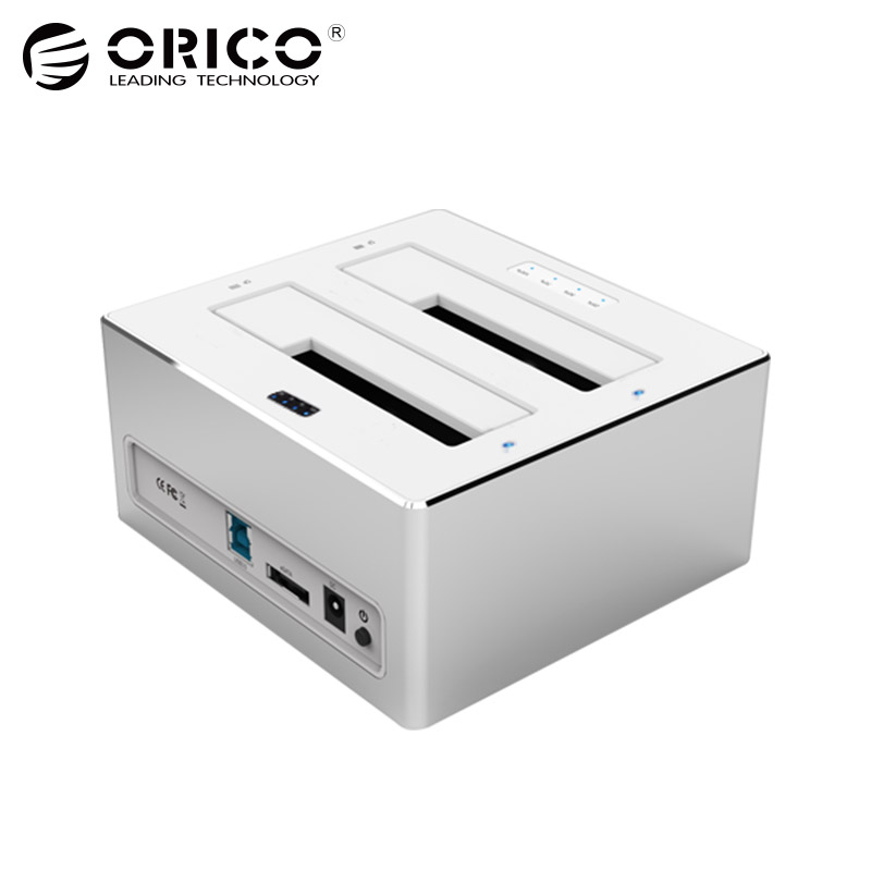 ORICO 3.5 '' 2.5 '' HDD Enclosure Sata Hard Disk Usb 3.0 Funzione duplicazione duplicazione copia hdd Docking Station Support 8TB