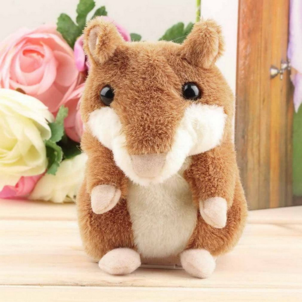 OCDAY Electronic Talking Hamster Children Plush Toys Best Early Educational Toy Xmas Gift Speaking Sound Stuffed Electric Pets