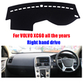 Car dashboard covers mat for VOLVO XC60 all the years Right hand drive dashmat pad dash cover auto dashboard accessories