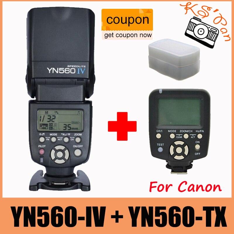 YN560-TX Yongnuo Беспроводная Вспышка Контроллер + Вспышку YN560IV Вспышка Speedlite для Canon DSLR Камеры 5D2 6D 7D 5D 60D 400D