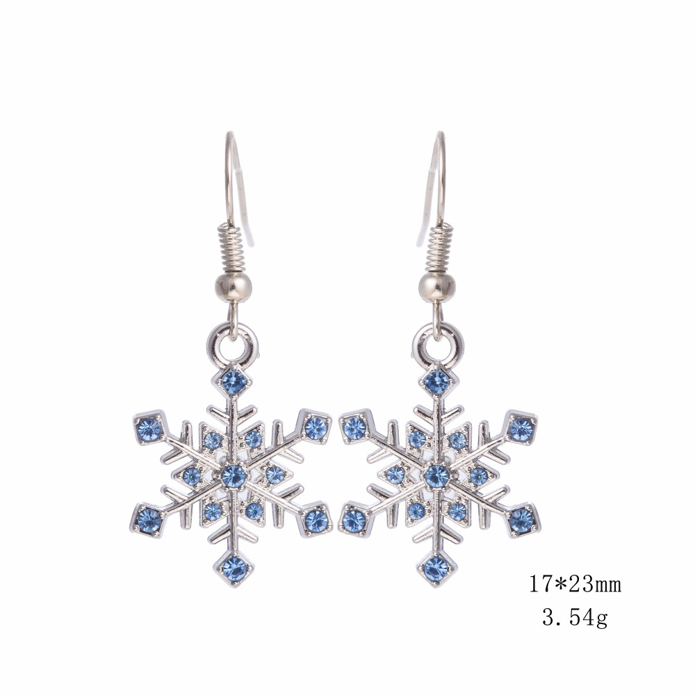 Teamer blau und grün kristall schnee blume damenmode baumeln und - Modeschmuck - Foto 3
