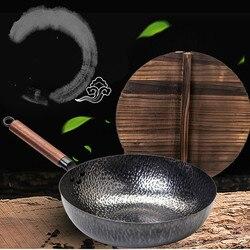 Garnek chińskiego czystego kowala na czubku żelazny garnek jest kuty ręcznie bez powlekania lub przyklejania LM12181602