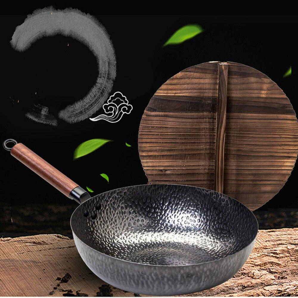 Le pot de forgeron chinois pur sur la pointe du pot de fer est forgé à la main sans revêtement ni collage LM12181602